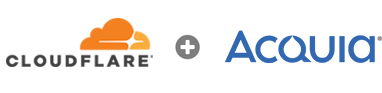 Cloudflare and Acquia logos