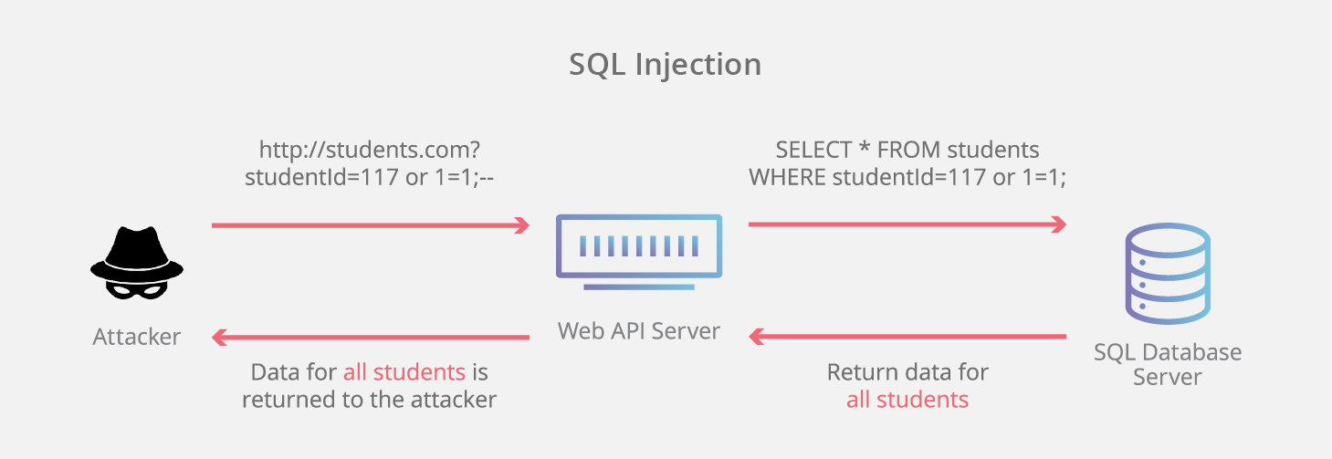 SQL injection infographic