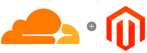 Cloudflare and Magento logos