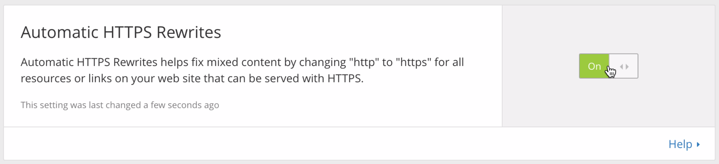 Automatic HTTPS rewrite