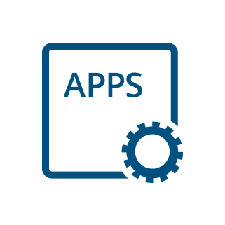 icon apps platform blue