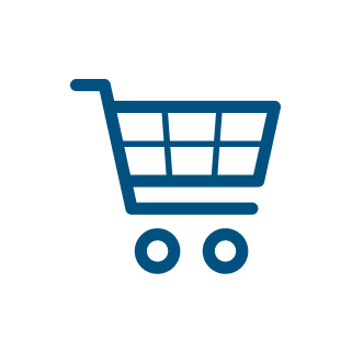 icon ecommerce blue