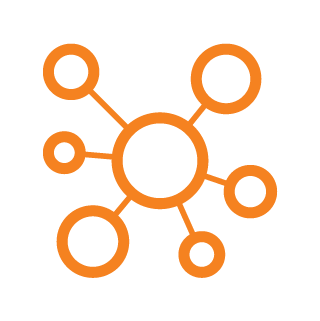 icon machine learning 1 orange