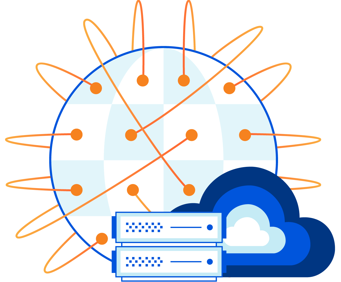 integrated cloud network hero illustration 3x 8