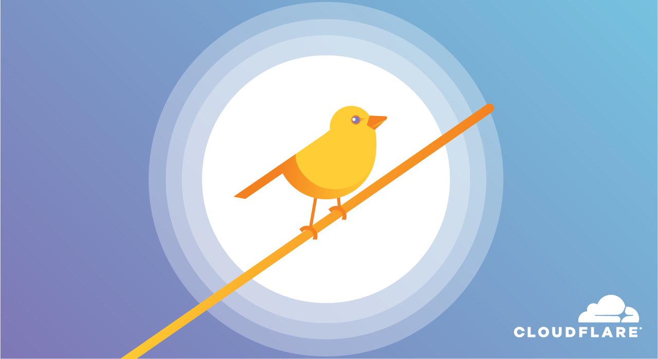 Warrant canary - yellow bird on blue background