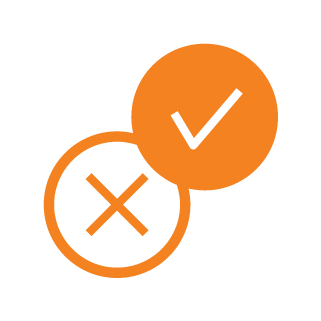 icon automated whitelist orange