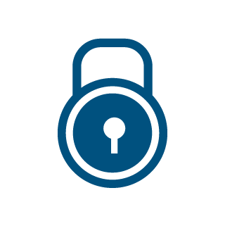 icon security blue