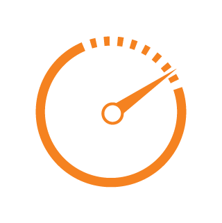 icon real time traffic orange