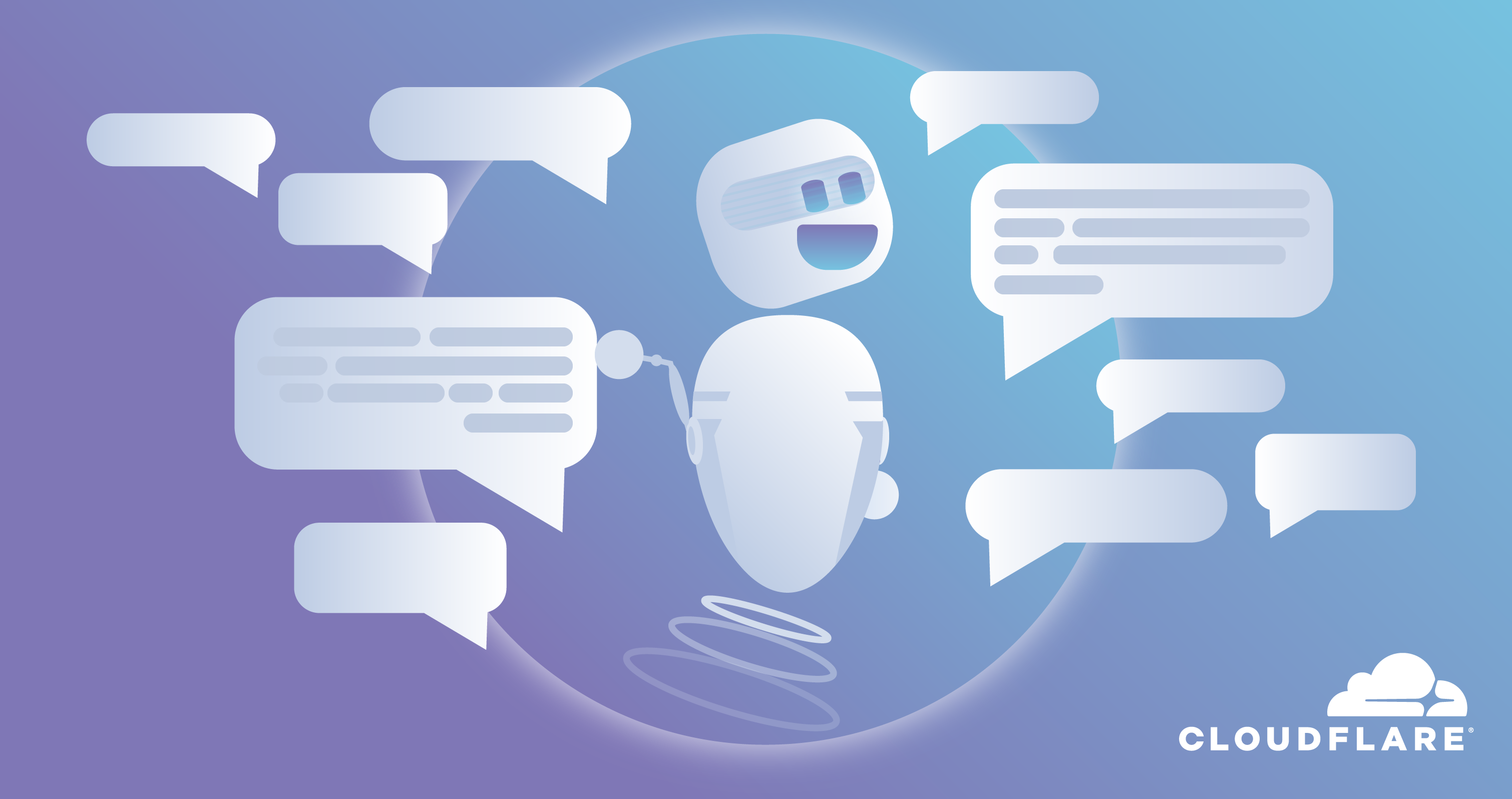 Chatbot with speech bubbles