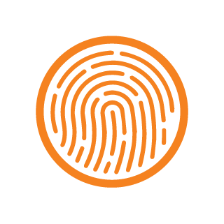 icon fingerprint orange