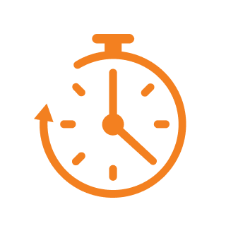 icon reliability stop watch orange
