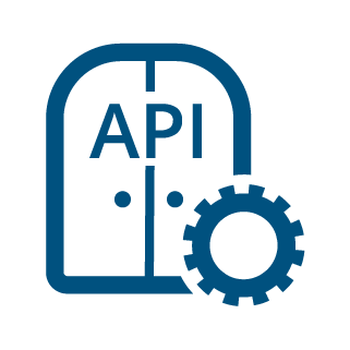 icon API gateway blue