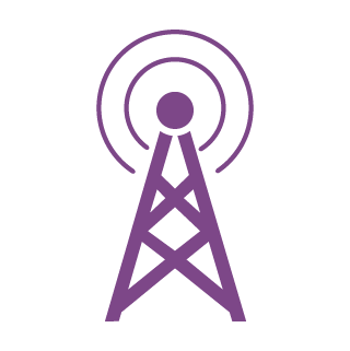 icon cell tower purple